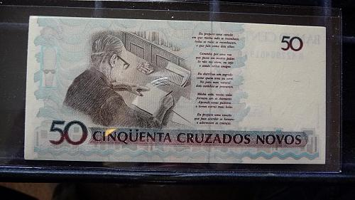BANCO CENTRAL DO BRASIL 5 SEQUENTIAL NOTES IN SLEEVE UNC CONDITION C-21-21