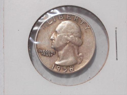 "1956 ""P"" Washington quarter circulated"