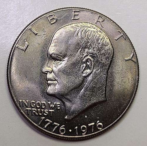 1976-D Type 1 Eisenhower Dollar MS-64 (Near Gem)