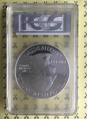 2015 Homestead 5 Oz Silver Quarter PCGS MS69 PL Mercanti