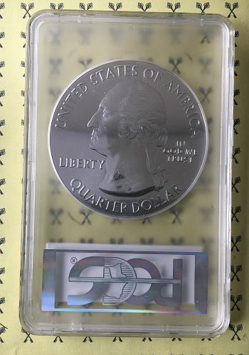 2015 Saratoga 5 Oz Silver Quarter PCGS MS69 DMPL Mercanti