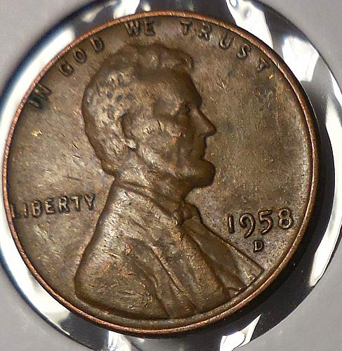 1958-D Lincoln Cent Quality Error