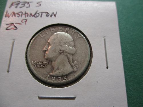 1935S  G4 Washington Quarter.  Item: 25 W35S-06.