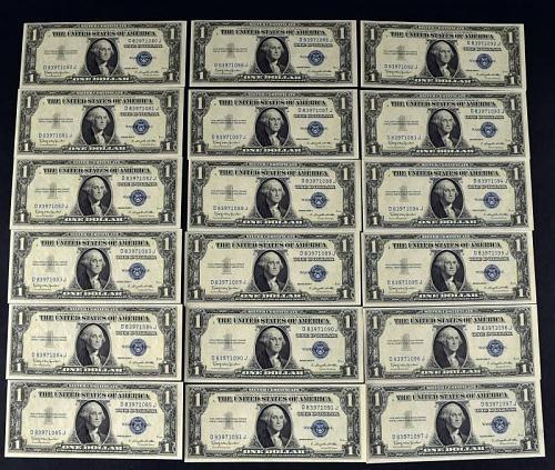 18-1935 H Consecutive $1 Silver Certificates