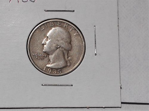 "1935 ""P"" Washington quarter circulated"