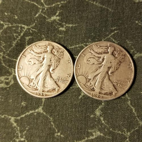 ONE (1) 1944 Walking Liberty Half Dollar