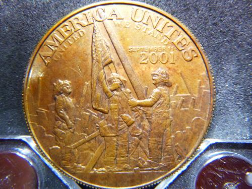 AMERICA UNITES SEPTEMBER 11 2001 POLICE 1888 BUCKLEY