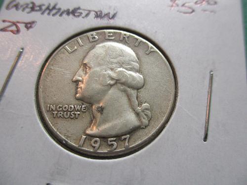 1957  F15 Washington Quarter.  Item 24 W57-03.