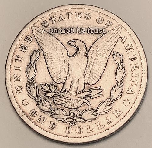 1879-CC Morgan Silver Dollar VAM 2 VF [MDL 576C]