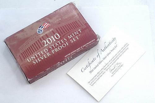 2010-S U.S. Mint Silver Proof Set With Box And COA