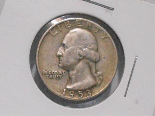 1953 D Washington quarter circulated
