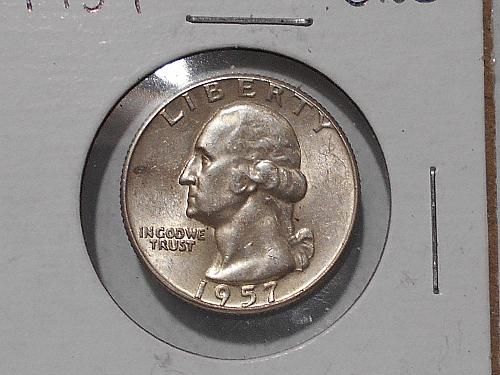 "1957 ""P"" Washington quarter Uncirculated"