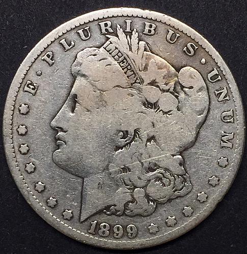 1899-S Morgan Silver Dollar VG