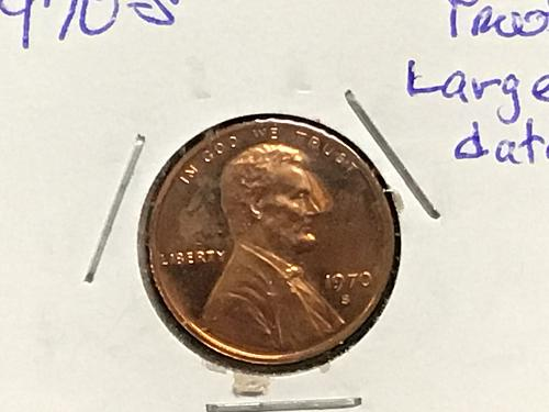 1970 S Lincoln proof cent, LARGE DATE