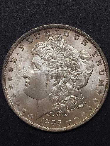 1885-O Morgan Silver Dollar, MS-60+