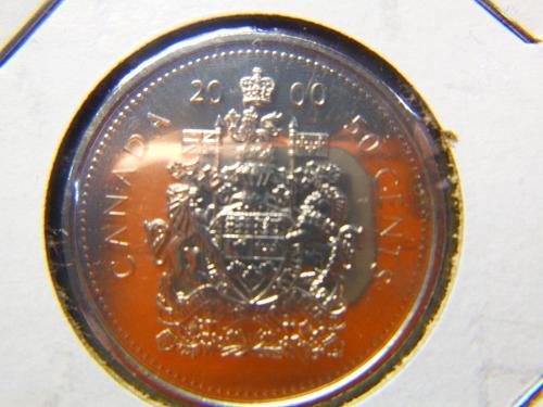 2000 Elizabeth II Fifty Cents - Half Dollar
