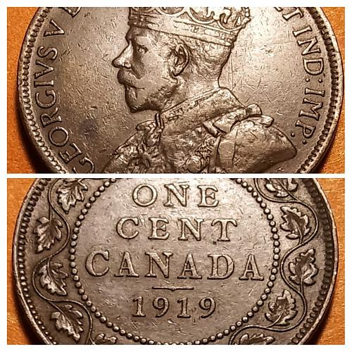 1919 CANADA LARGE CENT