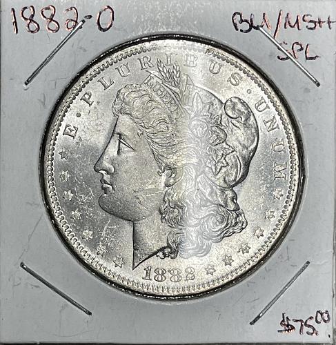 1882-O High Grade Brilliant Uncirculated/MS++ Morgan US Silver Dollar