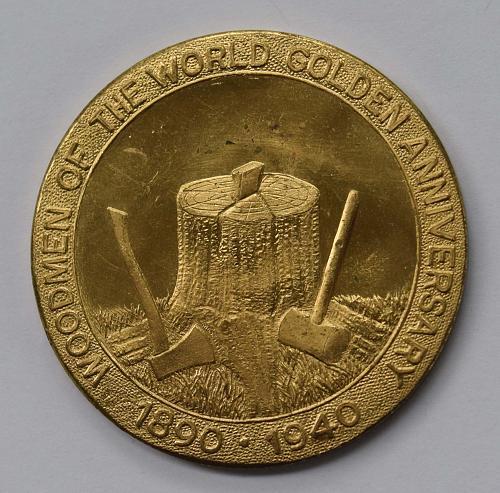 1890-1940 Woodmen Of The World Golden Anniversary Token - Root/Bradshaw/Fraser