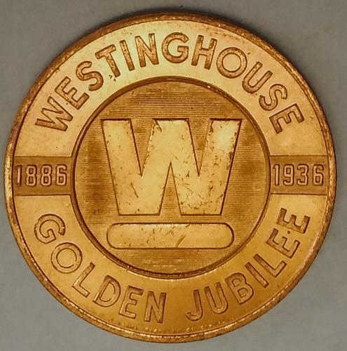 AU 1936 WESTINGHOUSE GOLDEN JUBILEE MEDAL