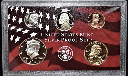 2001 S Proof Set 5 coin set
