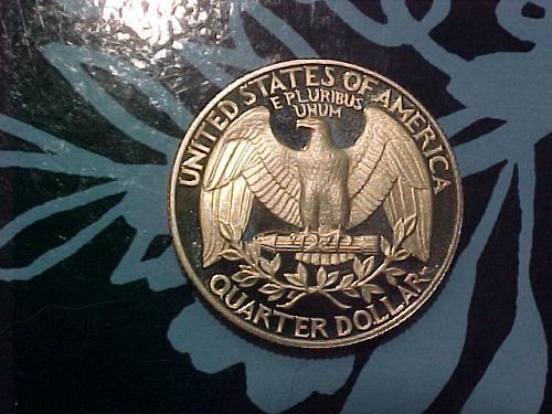 1987 S WASHINGTON QUARTER CAMEO PROOF          am48