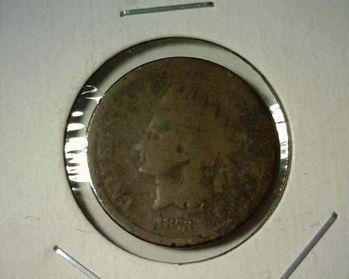 1873  INDIAN HEAD CENT  CIRCULATED  NICE LOOKING COIN!!