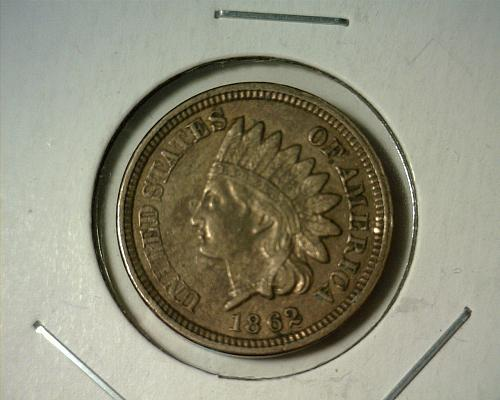 1862  INDIAN HEAD CENT  CIRCULATED  NICE LOOKING COIN!!