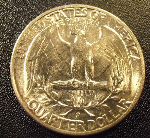 1953 D Washington Silver Quarter,  (53DAC1)