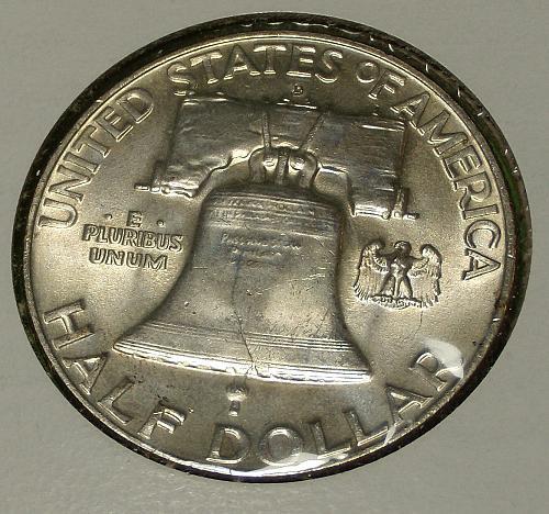 1957D Franklin Half Dollar  MS63FBL  #50-1957D-1
