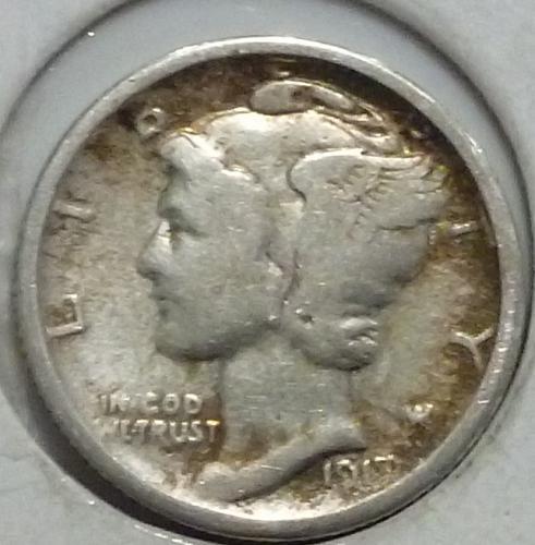 1917-D Very FINE Mercury Dime   ( 249-C)