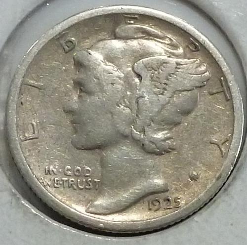 1925-S Very FINE Mercury Dime   ( 249-W)
