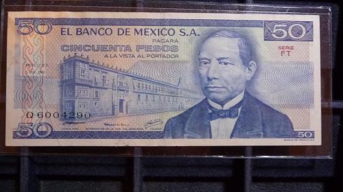 1978 EL BANCO DE MEXICO S.A. 50 PESOS