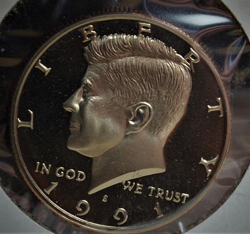 1991 Kennedy Half Dollar Proof - Cameo