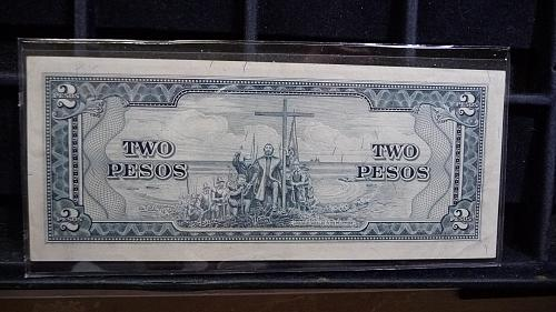 1949 CENTRAL BANK OF THE PHILIPPINES ONE PESO NOTE IN UNC CONDITION  C-27-21