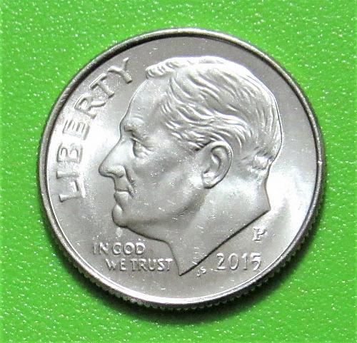 2015-P 10 Cents - Roosevelt Dime