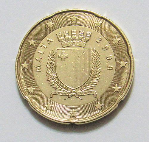 2008 Malta 20 Euro Cents