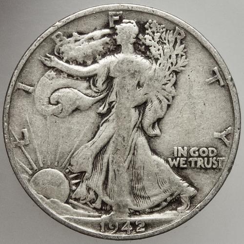 1942 S Walking Liberty Half Dollar #18
