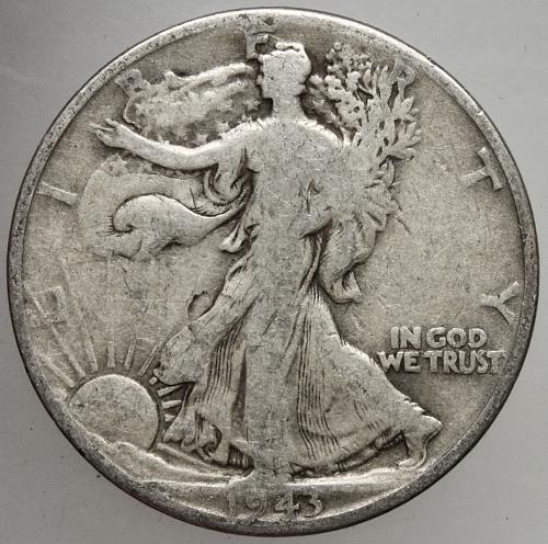 1944 D Walking Liberty Half Dollar #15