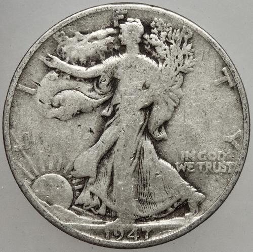 1947 D Walking Liberty Half Dollar #17