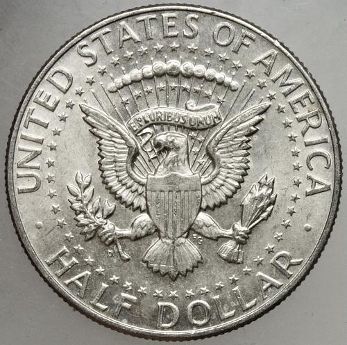 1964 D Kennedy Half Dollar #21 Desirable RPM-001 FS-501