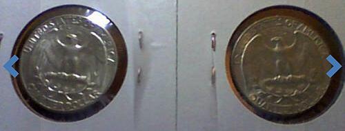 1964 P&D Washington .900 Silver Quarters 2 Coin Lot