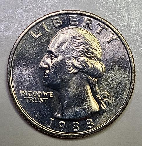 1988-P Washington Quarter MS-64 (Near Gem)