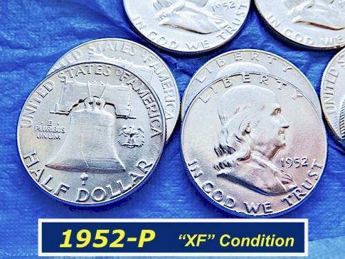 """1952-P  Silver Franklin  ⭐️  """"XF"""" Condition   ⭐️    (#1166)"""