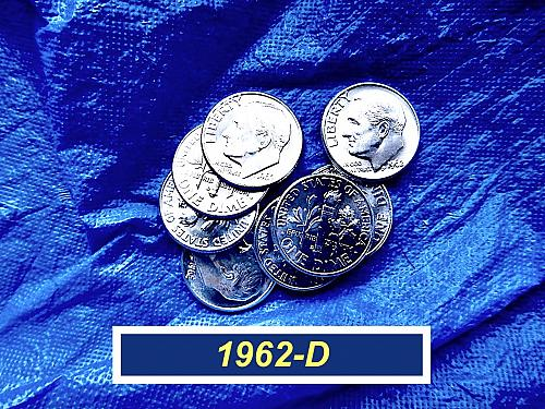 "1962-D BU Dimes ☆  Very Nice ""Uncirculated"" Coins  ☆  (3201)"