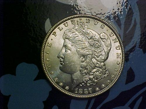 1887 MORGAN DOLLAR         am59