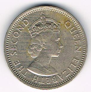 25 Cents, Eastern Caribbean States, 1965