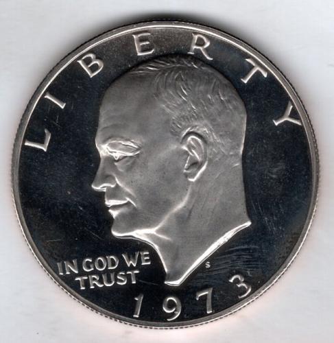 1973 S Eisenhower Dollars: Silver Clad -#4b