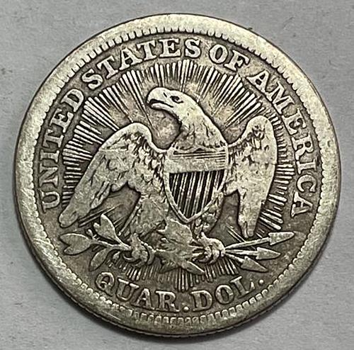 1853 Seated Liberty Quarters Type 3 - Arrows at Date - Rays Around Eagle 3642