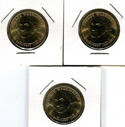 2007 - P  WASHINGTON $ 1 PRESIDENTAL COIN   BU